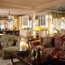 Traditional Family Room by Robin Baron Design