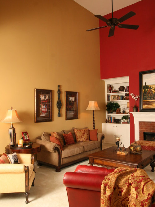Burgundy Accent Wall Home Design Ideas Pictures Remodel