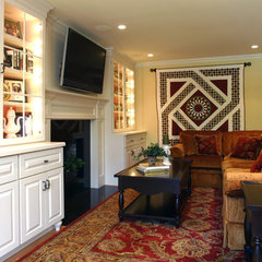 traditional family room by Sharon McCormick