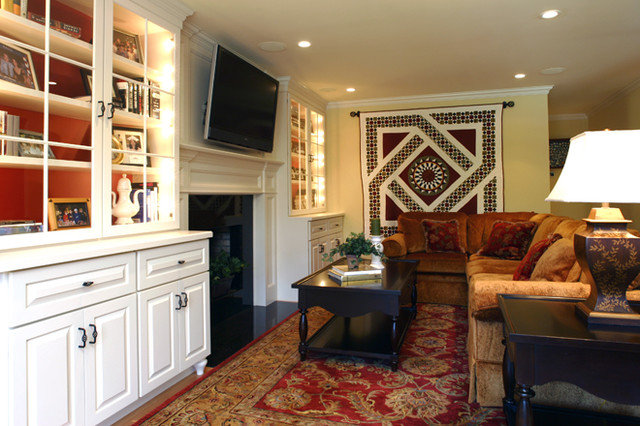 Traditional Family Room by Sharon McCormick Design