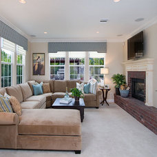 Traditional Family Room by Style On a Shoestring