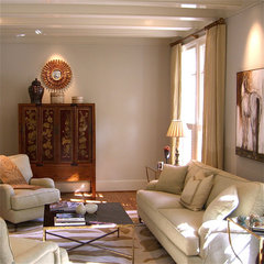 traditional family room by Valerie DeRoy Interiors, LLC