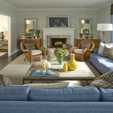 Traditional Family Room by Willey Design LLC