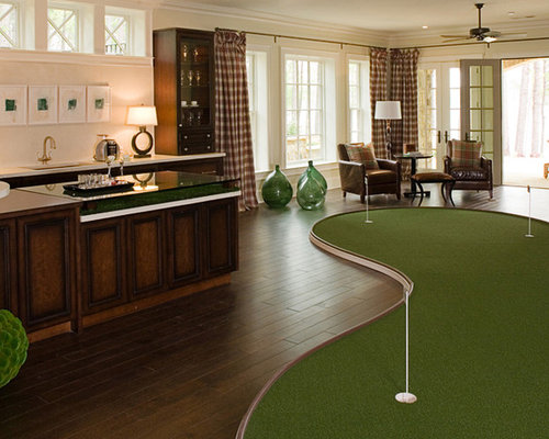 Indoor Putting Green Home Design Ideas Pictures Remodel And Decor