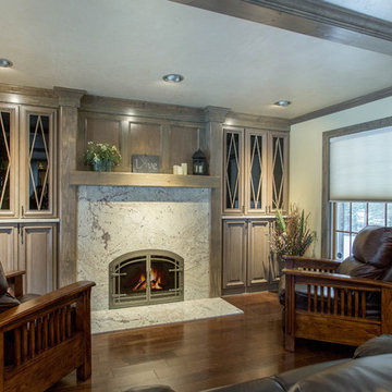 Traditional Fireplace Built-Ins