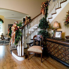 Traditional Family Room by John Hall Custom Homes