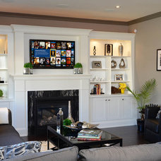 Traditional Family Room by Dell Smart Home Solutions