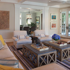 Traditional Family Room by Tomaro Design Group