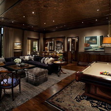 Traditional Family Room by Candelaria Design Associates