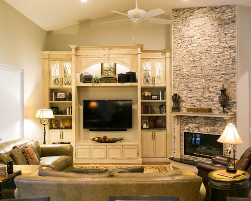 Traditional Family Room and Fireplace Remodel