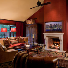 Traditional Family Room by Wendy Black Rodgers Interiors