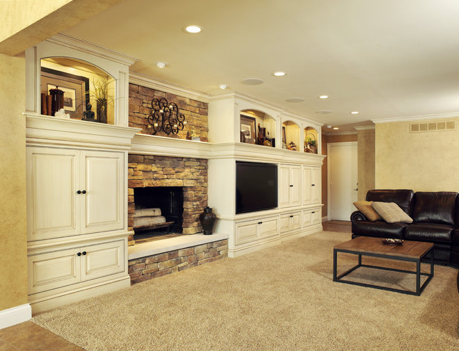 Traditional Family Room by Albrecht Wood Interiors