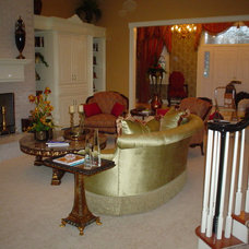 Traditional Family Room by Details Designs and Cabinets
