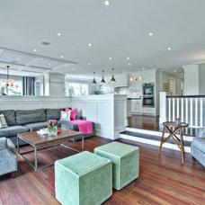Contemporary Family Room by Rockwood Custom Homes
