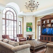 Traditional Family Room by Makow Associates Architect Inc