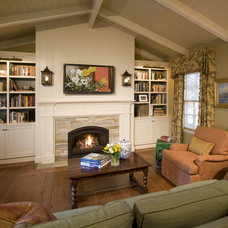 Traditional Family Room by Alexandra Luhrs Interior Design