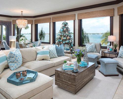 wohnideen f r maritime wohnzimmer mit marmorboden ideen design houzz. Black Bedroom Furniture Sets. Home Design Ideas