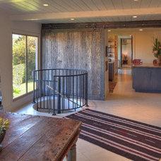 Mediterranean Family Room by Pritzkat & Johnson Architects