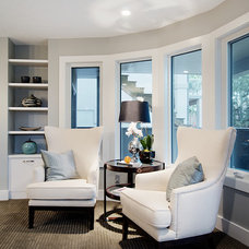 Transitional Family Room by Capstone Custom Homes