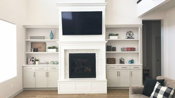 Transitional Family Room Cabinetry