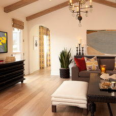 Mediterranean Family Room by D for Design