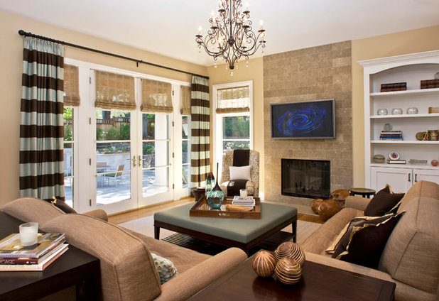 Traditional Family Room by Christine Sheldon Design