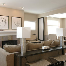 Contemporary Family Room by the orpin group, interior design