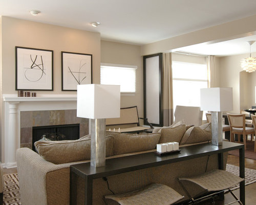 Nice Inspiration For A Mid Sized Transitional Open Concept Family Room Remodel  In Boston With A