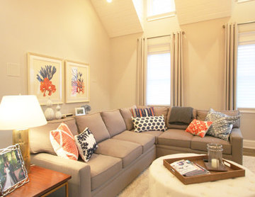 Transitional Family Room in Logan Square