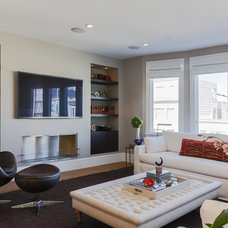 Transitional Family Room by JL Interior Design, LLC