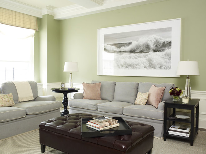 Traditional Family Room by Kathleen Walsh Interiors, LLC