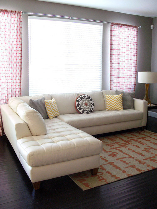 Cream Leather Sectional Houzz