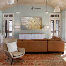 Transitional Family Room by PS Art Projects