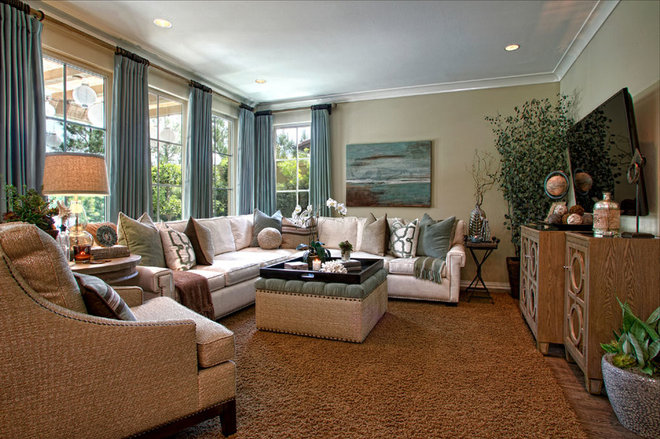 Traditional Family Room by Rejoy Interiors, Inc.