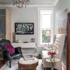 Transitional Family Room by Stephani Buchman Photography