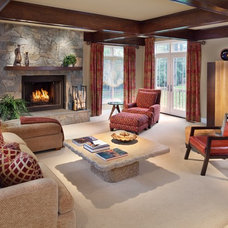 Contemporary Family Room by Storybook Rooms, LLC