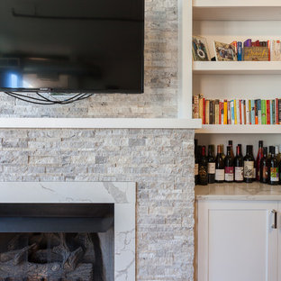 Transitional Fireplace Remodel in Chicago