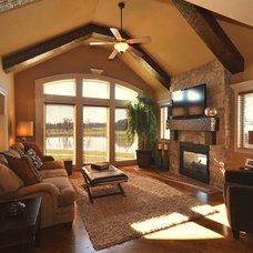 Traditional Family Room by Surface to Surface Interior Design/Construction