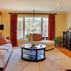 Contemporary Family Room by Audrey Kerchner