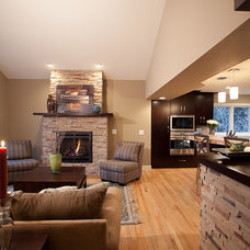 Family Room by HighCraft Builders