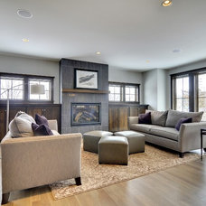 Traditional Family Room by Mark D. Williams Custom Homes Inc