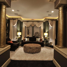 Transitional Family Room by The Design Firm