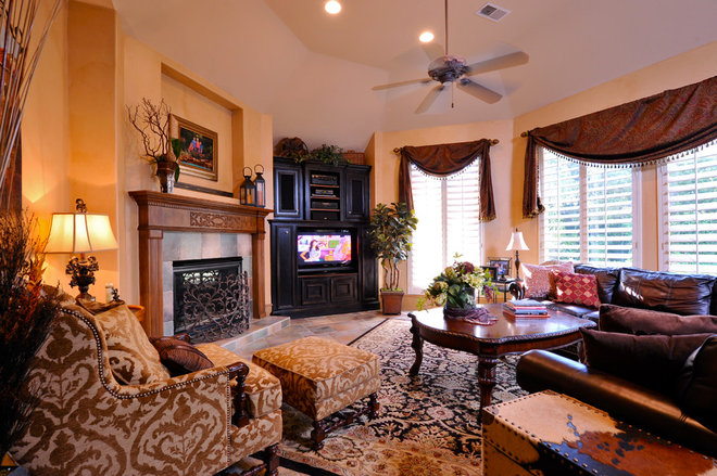 Traditional Family Room by Cindy Aplanalp-Yates & Chairma Design Group