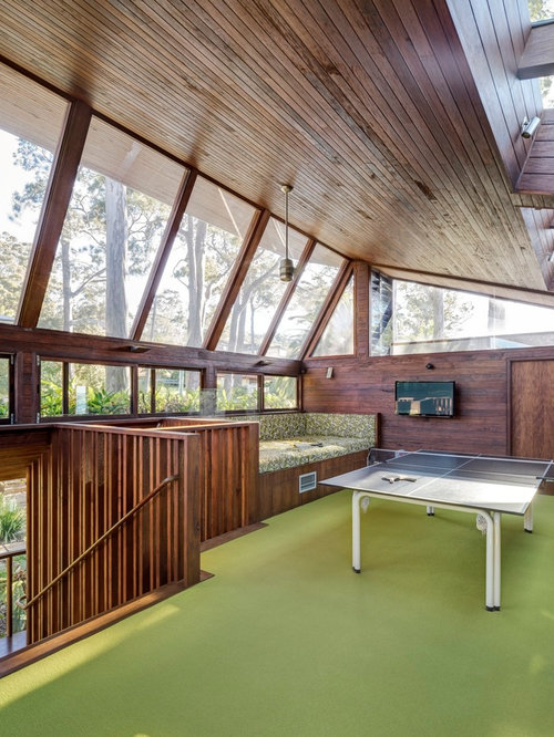 Large Contemporary Family Room In Sydney With Carpet And A Game Room. Part 81