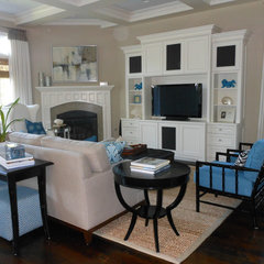 modern family room by Caroline Burke Designs & Associates, Inc.