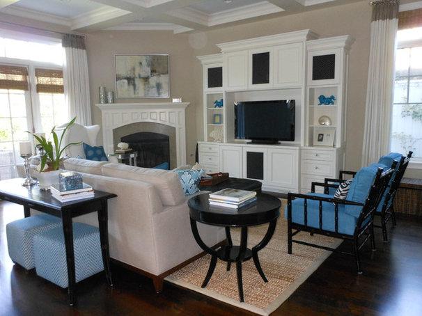 Modern Family Room by Caroline Burke Designs & Associates, Inc.