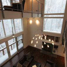 Modern Family Room by Sagatov Design-Build