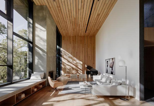 Modern Family Room by Reynaers Aluminium - North America