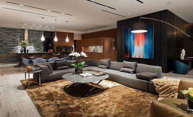 Contemporary Family Room by Assemblage Studio
