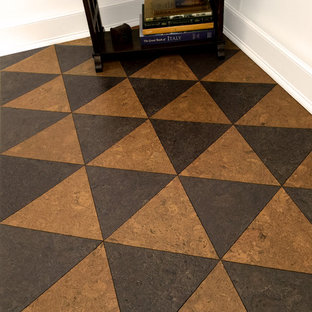 Triangle Cork Flooring Tiles in Golden Oak and Sable